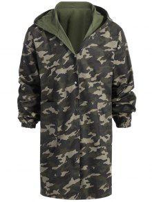 Manteau De Camouflage Réversible à La Palangre - Vert Armée M