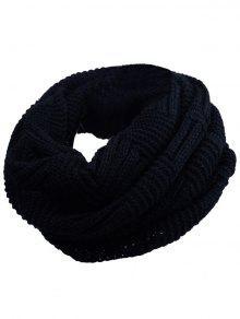 Écharpe Tricotée Côtelée Au Crochet - Noir