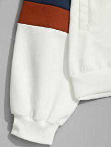 Bloque Blanco Con 2xl De Patr Capucha Color Bolsillos 243;n qUnf1F