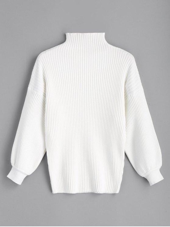 Pullover Maglia manica lunga in lanterna - Bianco Una Taglia