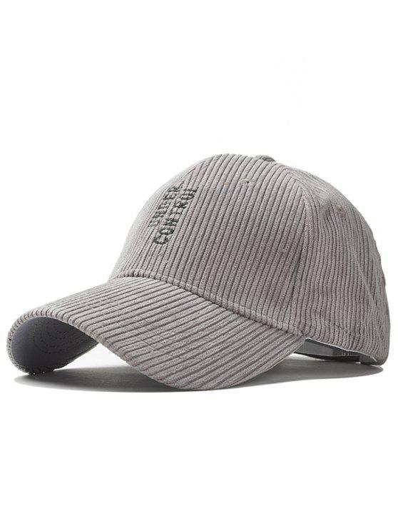Sombrero De Béisbol Vertical Bordado Patrón De Letras Gris Claro ...