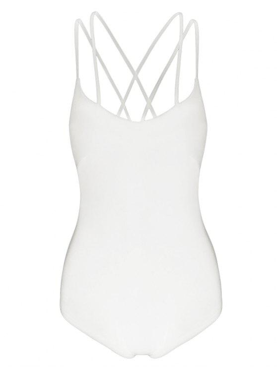 Strappy Criss Cross Jersey Body - Blancuzco XL
