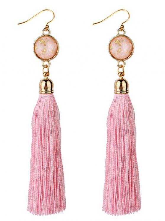 latest Vintage Boho Style Long Tassel Drop Earrings - PINK