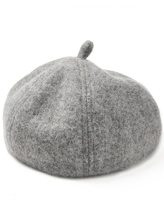 outfits Soft Artificial Wool Beanie Beret Hat - GRAY