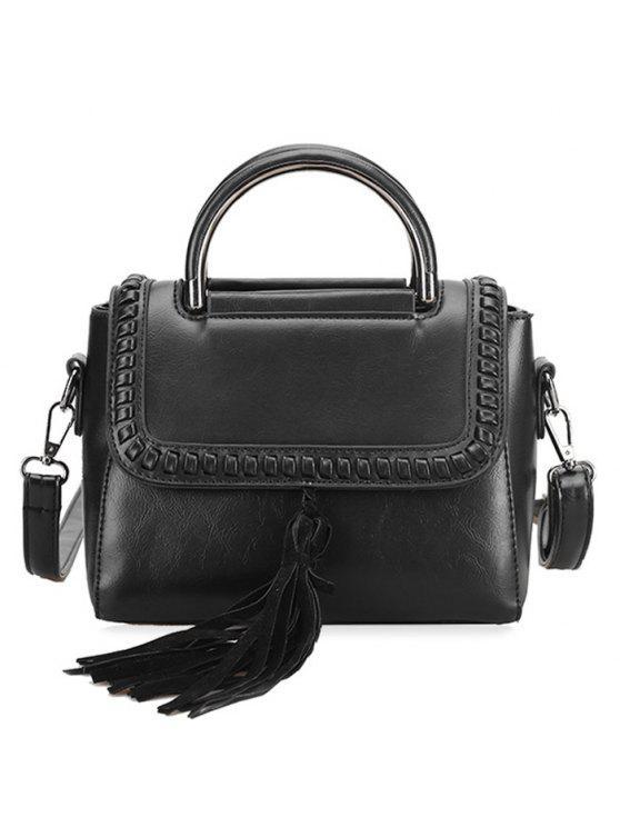 حقيبة يد شرابة ويبستيتش - أسود