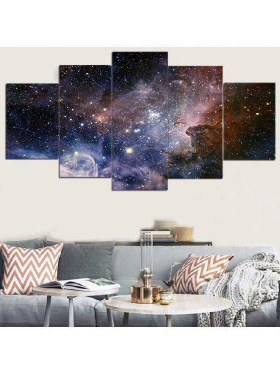 Galaxy Starry Printed Split Unframed Canvas Paintings COLORFUL: Wall ...