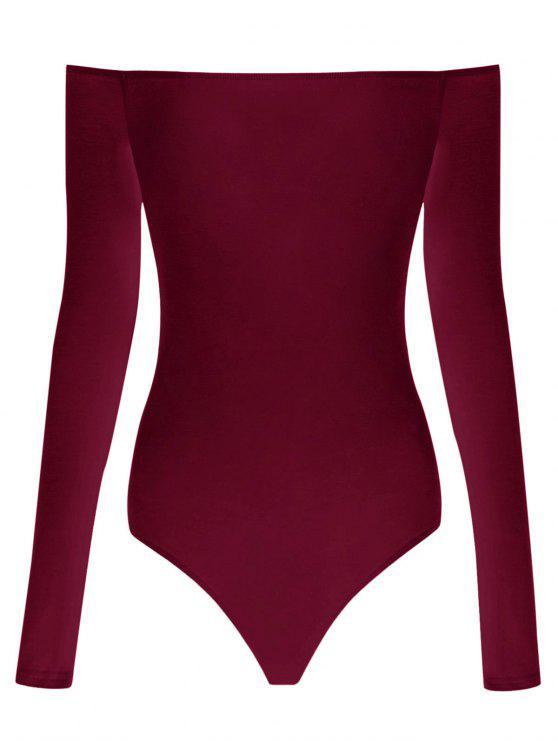 Body manga larga fuera del hombro - Vino Rojo M