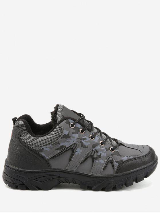 Outdoor Camo Print Imperméable Randonnée Chaussures de sport - gris 42