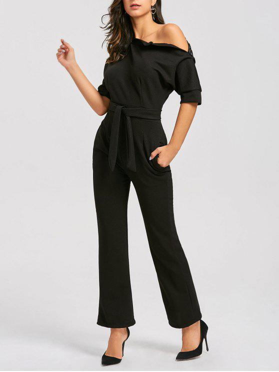 sneakers world-wide selection of luxury fashion Convertible Collar Belted Jumpsuit