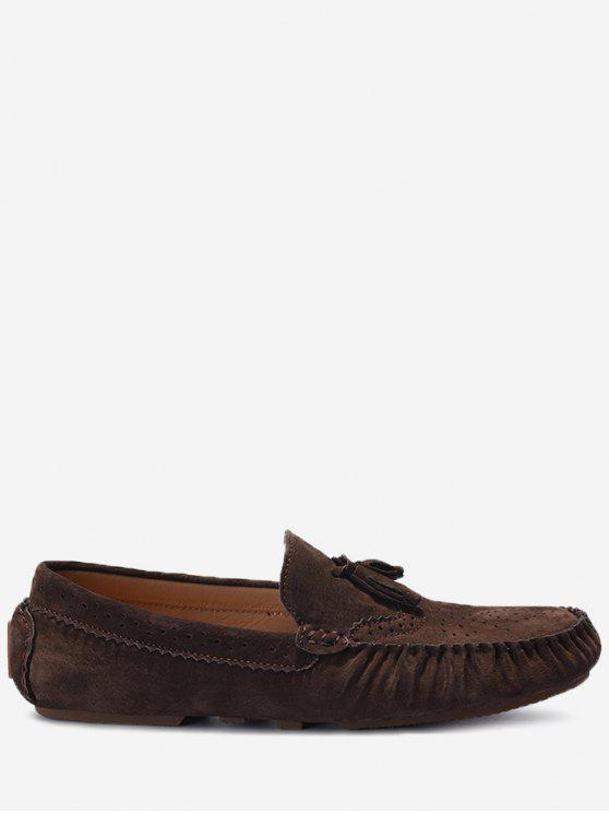 Slip On Tassel Casual Shoes - Café 42