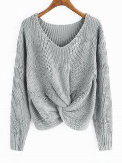 V Pull Twist Chunky Pull - Gris