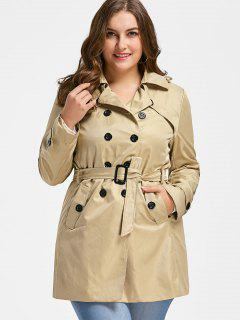 Plus Size Trench Coat - Light Khaki 2xl