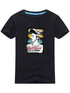 T-shirt Imprimé Figure - Noir Xl