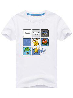 T-shirt Imprimé Plaisant - Blanc L