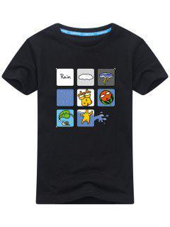 T-shirt Imprimé Plaisant - Noir L
