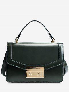 Metal Embellishing Solid Crossbody Bag - Green