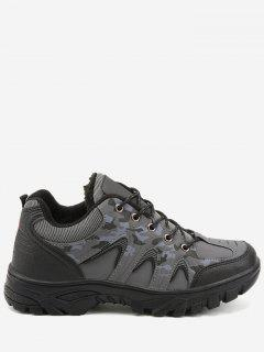 Outdoor Camo Print Waterproof Hiking Sports Shoes - Gray 42