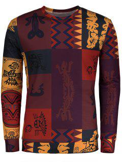 Totem Ethnic Printed Long Sleeve T-shirt - M