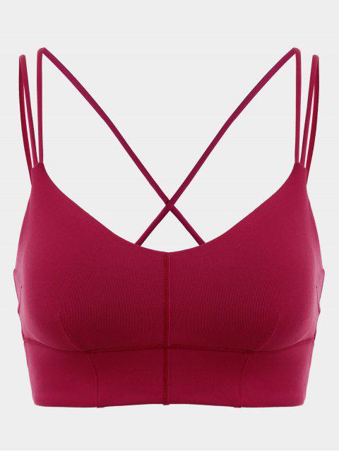 shops Padded High Impact Sports Running Bra - RED L Mobile