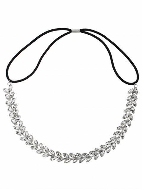 Strass Hochzeit Sparkly elastische Haarband - Silber  Mobile