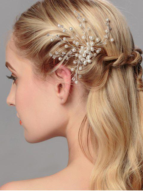 women Artificial Pearl Tree of Life Wedding Hairpin - WHITE  Mobile