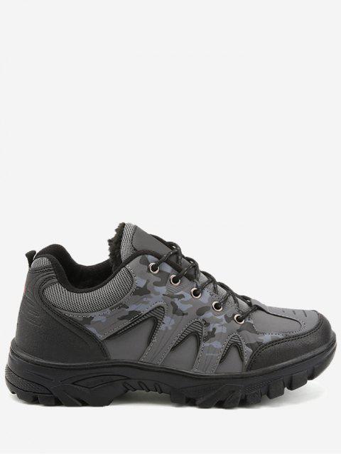 Outdoor Camo Print Imperméable Randonnée Chaussures de sport - Gris 42 Mobile