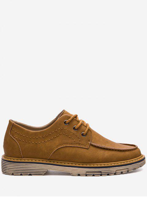 new Stitching Low Heel Casual Shoes - BROWN 39 Mobile