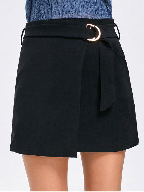 shops High Waist Embellished Mini Skirt - BLACK XL Mobile