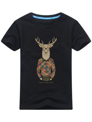 T-shirt Imprimé Wapiti Cartoon