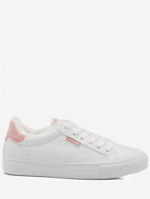 Faux Fur Warm Round Toe Low Top Sneakers