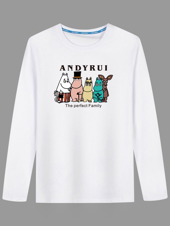 Long Sleeve Cartoon Print T shirt 232496201