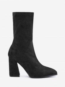حذاء مدبب من الأمام ذو كعب عالي - أسود 39