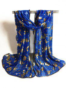 Lenço De Halloween Dourado - Azul