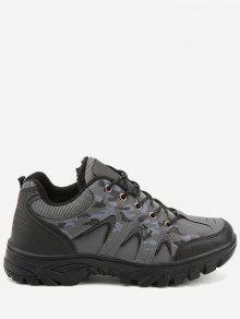 Outdoor Camo Imprimer Chaussures De Sport De Randonnée Imperméables - Gris 44