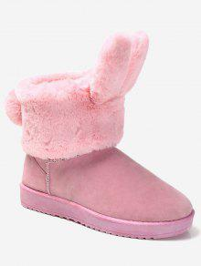 انفصال الأرنب الأذن الكاحل أحذية الثلوج - زهري 39