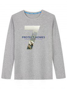 Graphic Protect Homes Imprimer T-shirt - Gris L