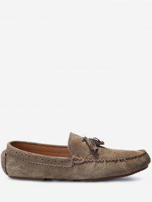 حذاء كاجوال سهل الارتداء مزين بشرابات - الأصفر 43