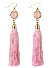 Vintage Boho Stil Lange Quaste Ohrringe - Pink