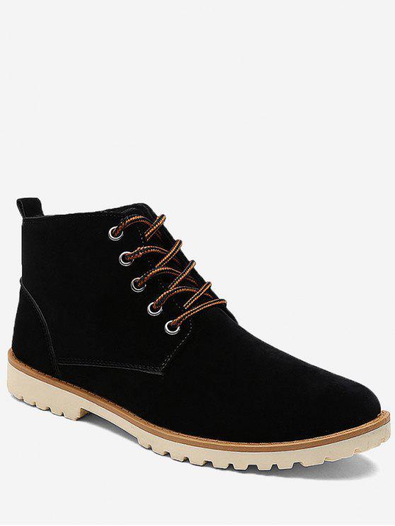 حذاء كاجوال بعكب منخفض عالي الرقبة - أسود 43