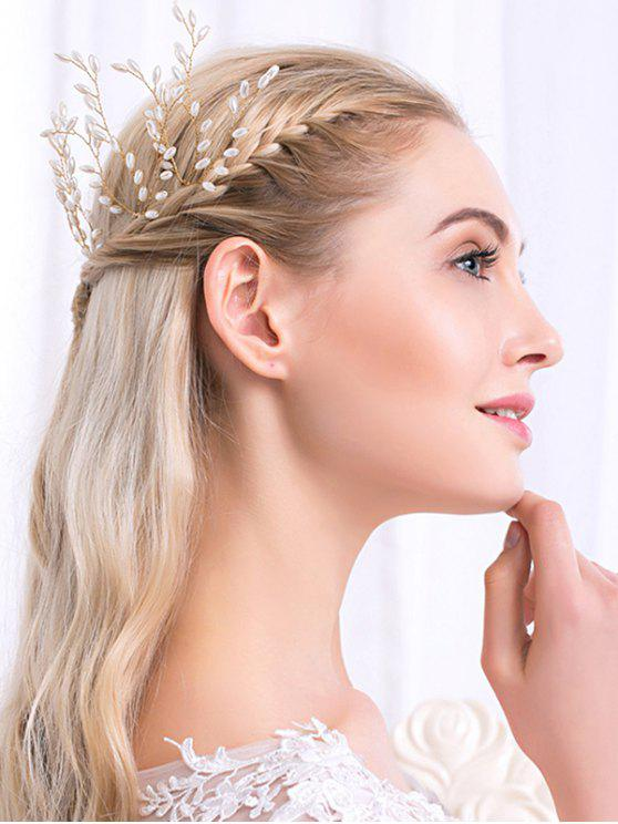 chic Wedding Faux Pearl Hairpin - GOLDEN