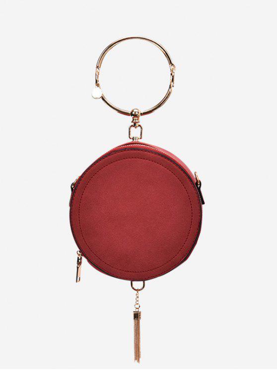 Bolsa de borracha de anel de metal - Vermelho
