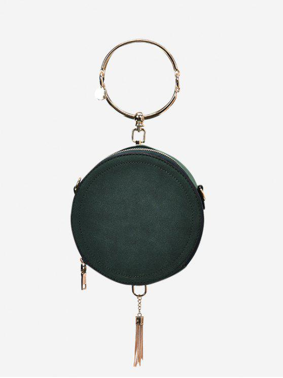 outfits Metal Ring Tassel Handbag - GREEN