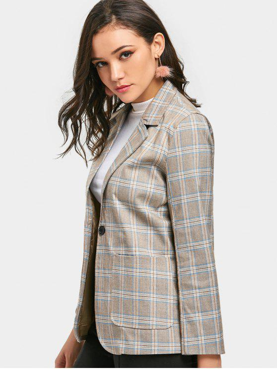 One-button Checked Blazer