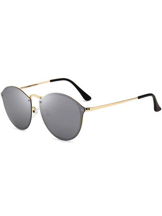 anti uv cat eye gespiegelte sonnenbrille golder rahmen silbere linse sonnenbrille zaful. Black Bedroom Furniture Sets. Home Design Ideas
