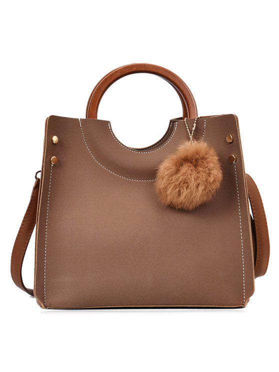 بومبوم الأزرار خياطة حمل حقيبة مجموعة - كاكي