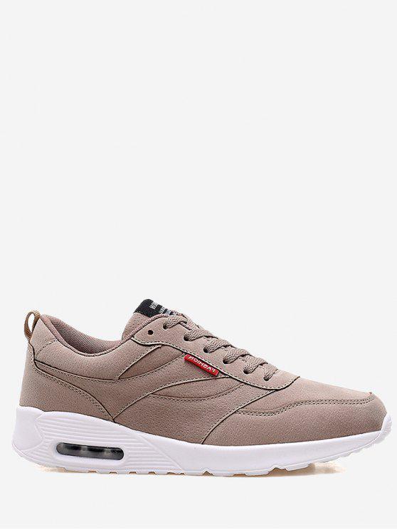Coussin Semelle Confortable Sneakers en daim - Kaki 42