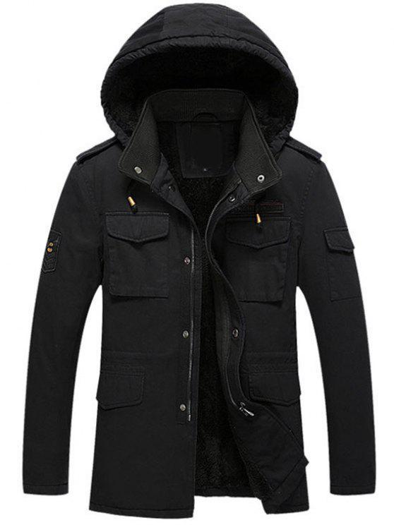 Hoodie Beflockung Reißverschluss Jacket - Schwarz 4XL