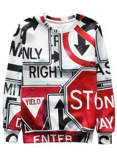 Street Signs Printed Sweatshirt - Xl