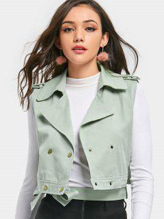 Double Breasted Crop Waistcoat - Mint