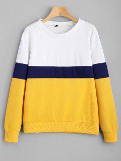 Color Block Sweatshirt - Yellow S